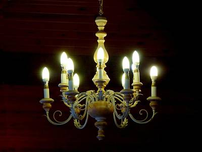 Photograph - Chandelier by Ed Lukas
