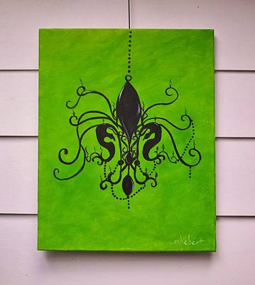 Chandelier Painting Art Print