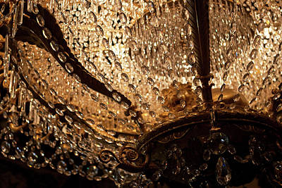 Photograph - Chandelier Shimmer by Lorraine Devon Wilke