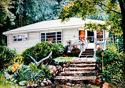 Of Our House Painting - Chandos Lake Cottage by Hanne Lore Koehler