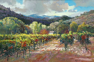 Napa Valley Vineyard Painting - Changing Light by Paul Youngman