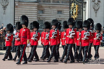 Buckingham Palace Photograph - Changing Of The Guard by Andrew  Michael