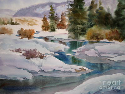 Melting Ice Painting - Changing Seasons by Mohamed Hirji