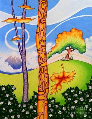 Vibrant Drawing - Changing Seasons by Robert Ball