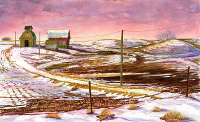 Powerlines Painting - Changing Times by David Bratzel