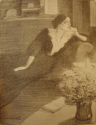Chansons De Femmes L'iles Des Baises Original by Alexandre Theophile Steinlen