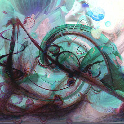 Abstract Movement Digital Art - Chaos by Linda Sannuti