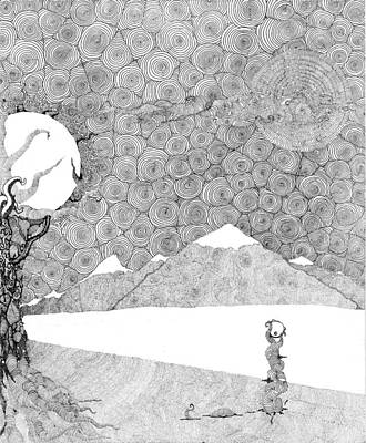 Chaos Terrain Art Print by Christopher Rowan