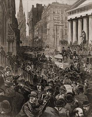 Chaotic Scene On Wall Street, Nyc Art Print by Everett