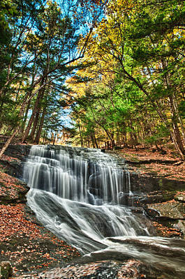 Photograph - Chapel Brook Falls by Fred LeBlanc