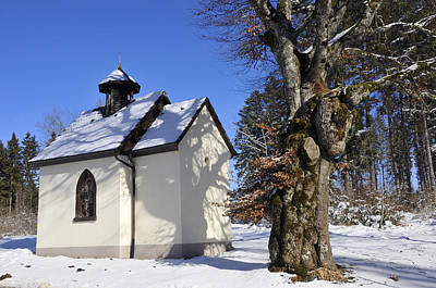 Photograph - Chapel Church In Winter by Matthias Hauser