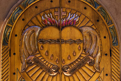Santa Fe Photograph - Chapel Doors by Carol Leigh