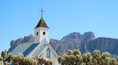 Art Print featuring the photograph Chapel In Superstitions by Penny Meyers