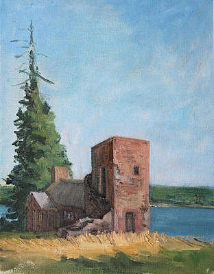 Maine Landscapes Painting - Chapel On Acre Island by Robert James Hacunda