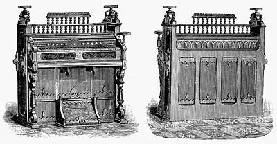 Sterling Photograph - Chapel Organ, 19th Century by Granger