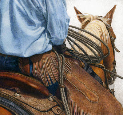 Equine Drawing - Chaps by Pat Erickson