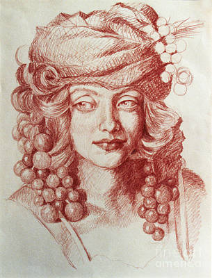 Drawing - Chardonnay by Kathryn Donatelli