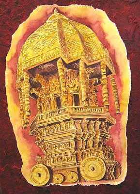 Tamilnadu Painting - Chariot Truibute by Swarna Sitaraman