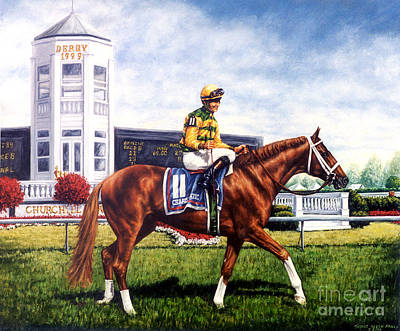 Jockey Painting - Charismatic by Thomas Allen Pauly