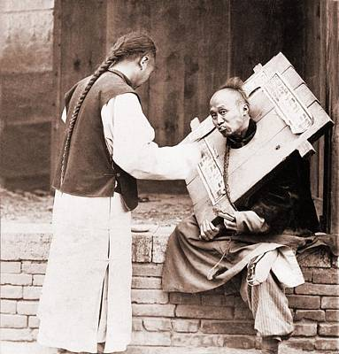 Charitable Chinese Man Feeding Art Print