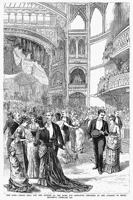 Charity Ball, 1880 Art Print by Granger