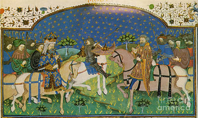 The Dark Knight Photograph - Charlemagne Saved By Roland Who Defeats by Photo Researchers