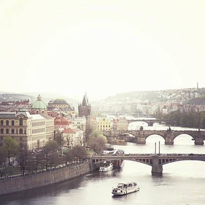 Vltava Photograph - Charles Bridge Crossing Vltava River by Image - Natasha Maiolo