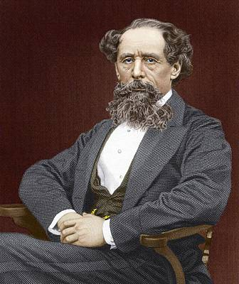 Great Expectations Photograph - Charles Dickens, British Author by Sheila Terry