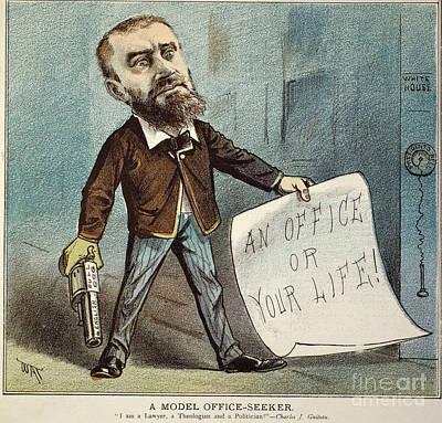 Charles Guiteau Cartoon Art Print by Granger