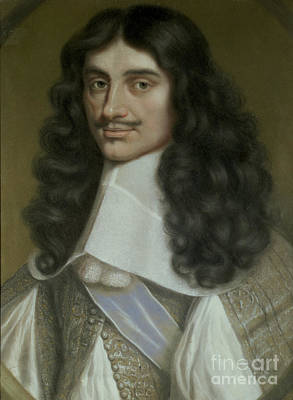 Black Hair Painting - Charles II by Wallerant Vaillant