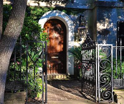 Photograph - Charleston Door by Lori Kesten