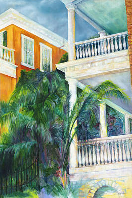 Spindles Painting - Charleston East Battery 19 by Joan Hogan