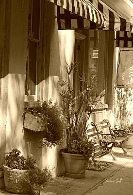 Photograph - Charleston Shop Iv In Sepia by Suzanne Gaff