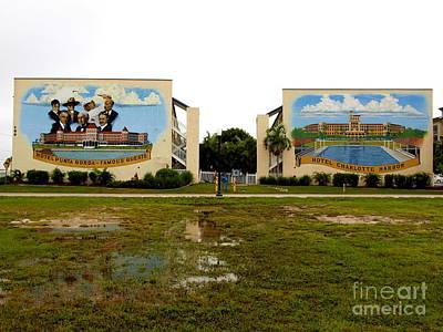 Punta Gorda Painting - Charlevio Condominium Murals by Charles Peck