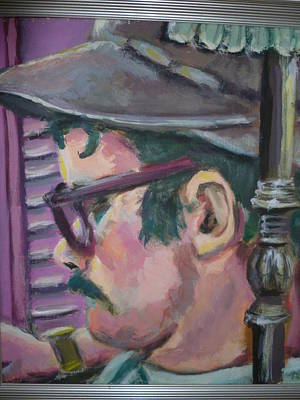 Character Portraits Painting - Charley In The Pink by Patt Fosnaught
