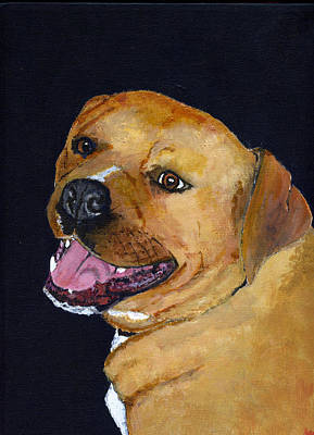 Good Dog Painting - Charlie by Mike Lester