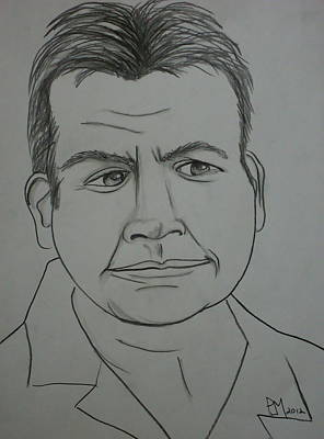 Playboy Drawing - Charlie by Pete Maier
