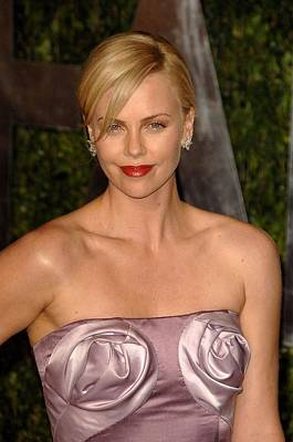 Charlize Wall Art - Photograph - Charlize Theron Wearing A Dior Haute by Everett