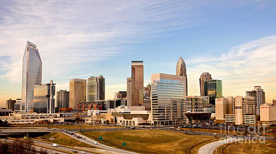 Charlotte Skyline At Daylight Art Print by Patrick Schneider