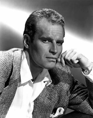 Charlton Heston, 1950s Art Print by Everett