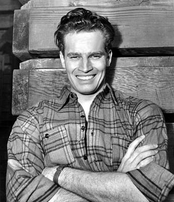 Publicity Shot Photograph - Charlton Heston, Paramount Pictures by Everett