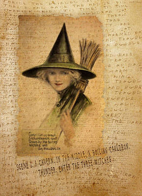 Newts Digital Art - Charming Witch by Sarah Vernon
