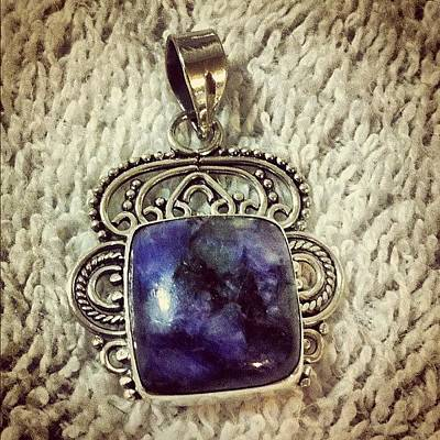 Jewelry Wall Art - Photograph - Charoite Ornate Sterling Silver Pendant by Robyn Padden
