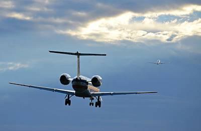 Photograph - Chasing Jet Fumes by Fraida Gutovich
