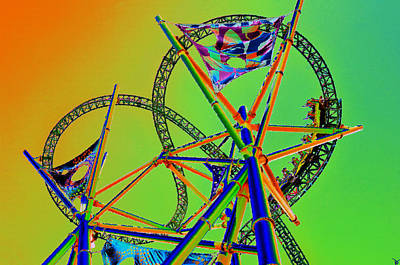 Roller Coaster Painting - Chasing Prey by David Lee Thompson