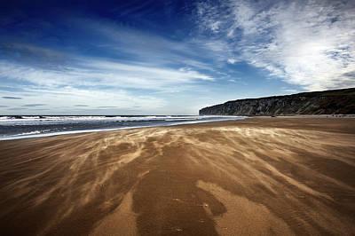 Chasing Sand Print by Svetlana Sewell