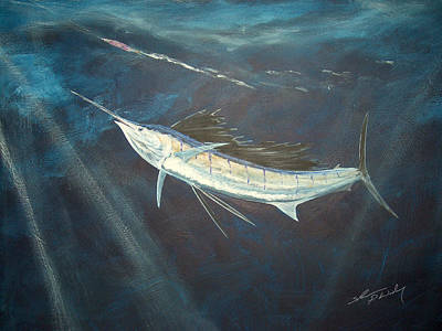 Trolling Painting - Chasing Skirt by Shannon Wiley