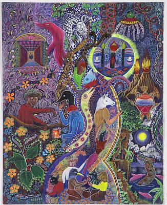 Chasnamancho Umanki Art Print by Pablo Amaringo