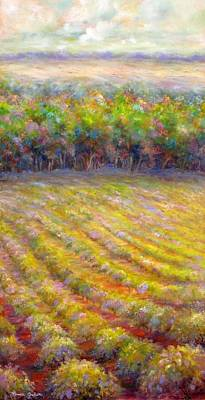 Painting - Chateau De Berne Vineyard by Bonnie Goedecke
