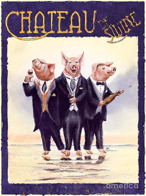 Painting - Chateau De Swine by Stella Violano